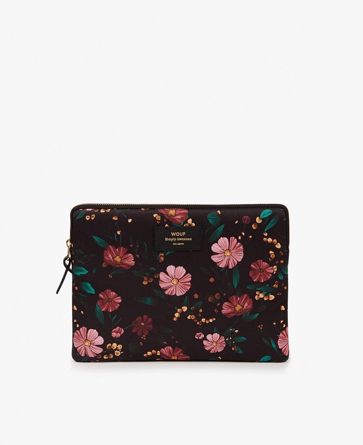 WOUF | Black Flowers iPad sleeve