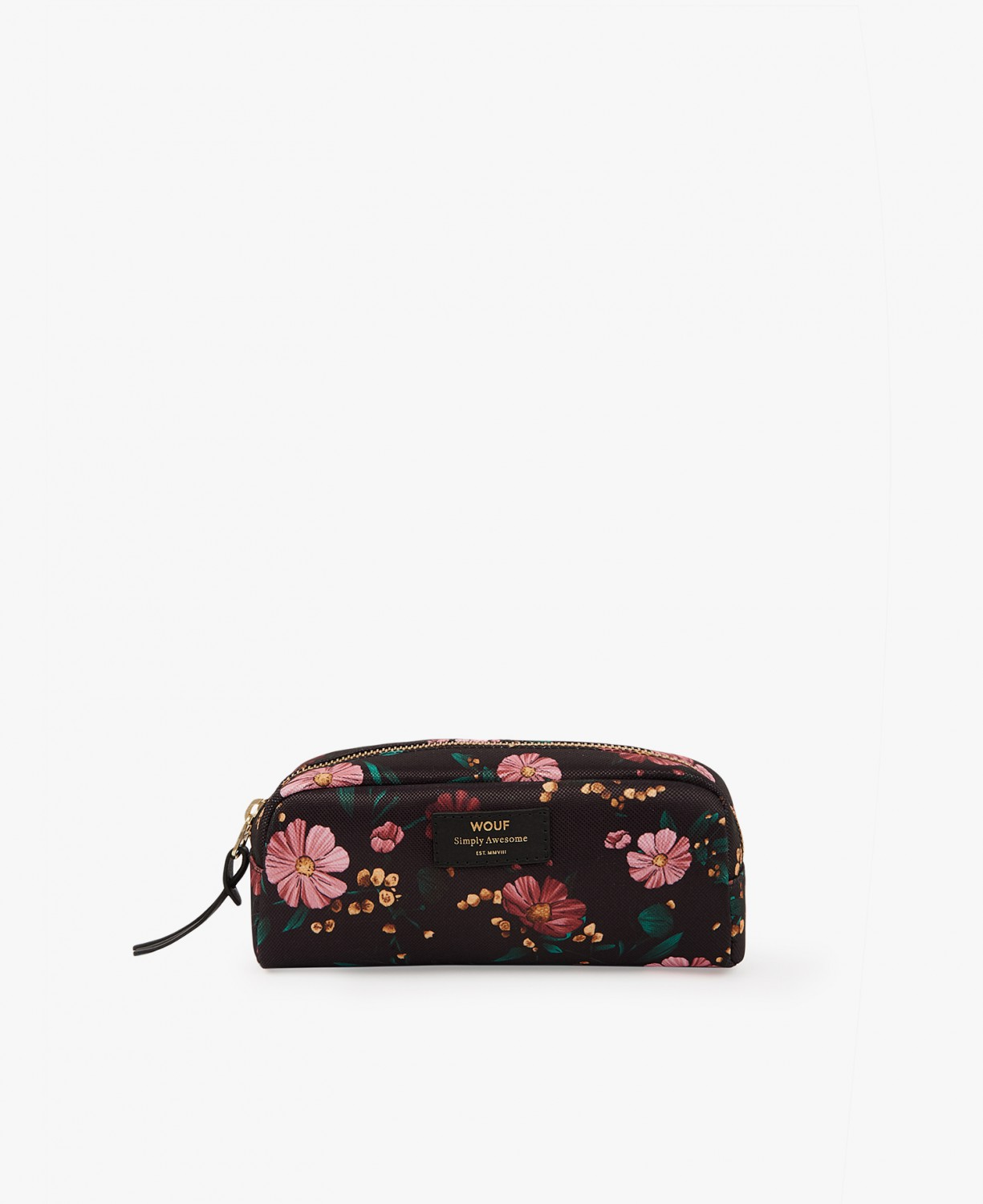WOUF | Black Flowers  makeup bag