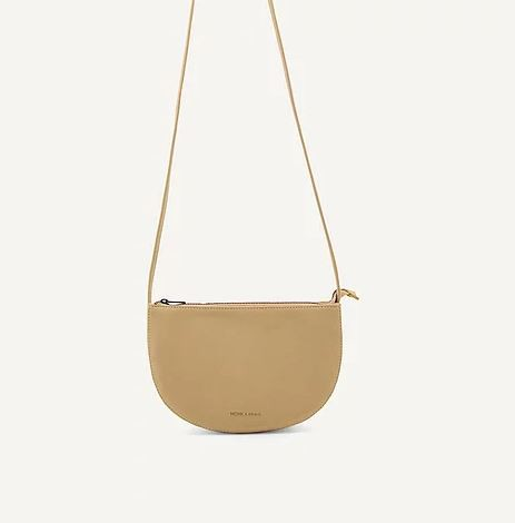 Monk & Anna | Farou half moon bag straw