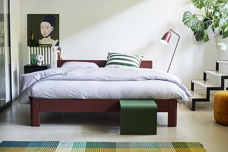 Auping - Auronde bed - burgundy oak